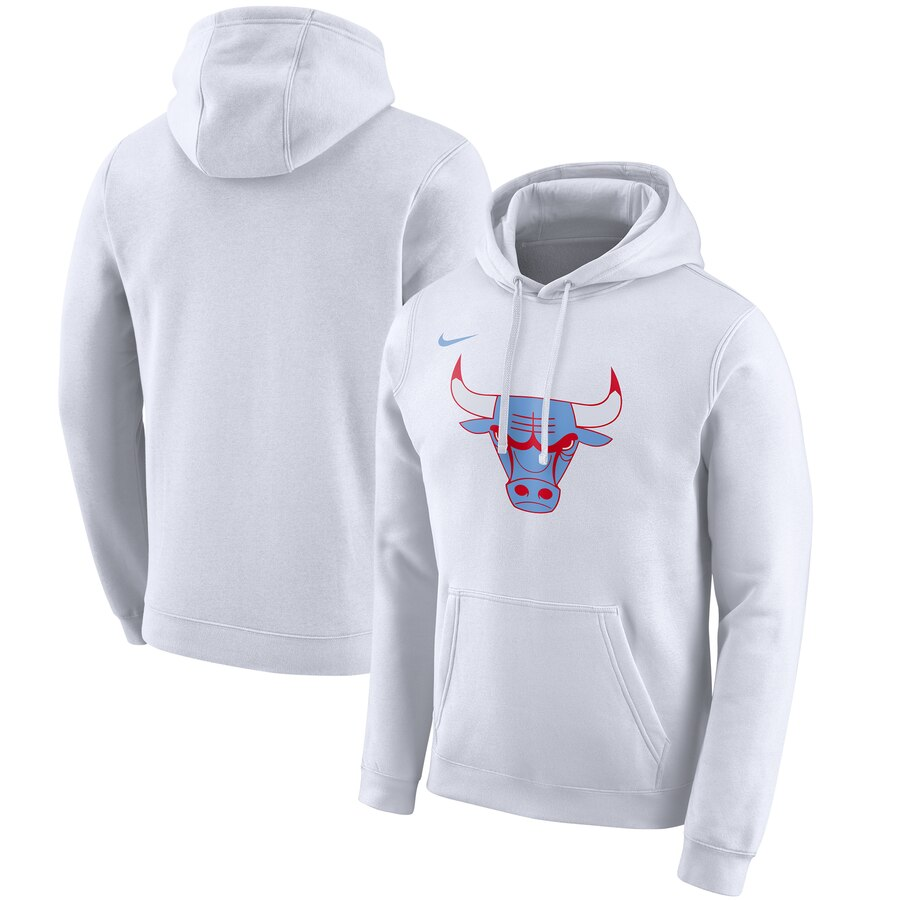 Chicago Bulls Nike 2019-20 City Edition Club Pullover Hoodie White