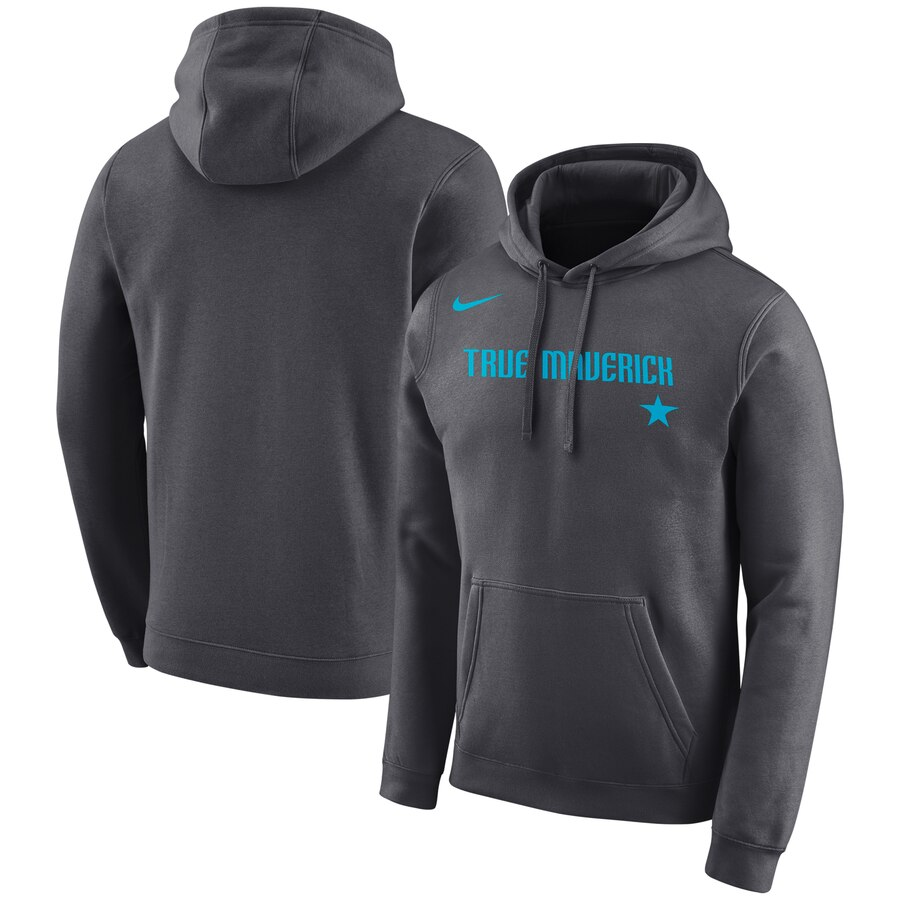 Dallas Mavericks Nike City Edition Logo Essential Pullover Hoodie Gray