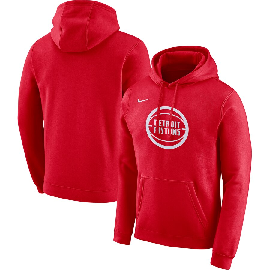 Detroit Pistons Nike 2019-20 City Edition Club Pullover Hoodie Red
