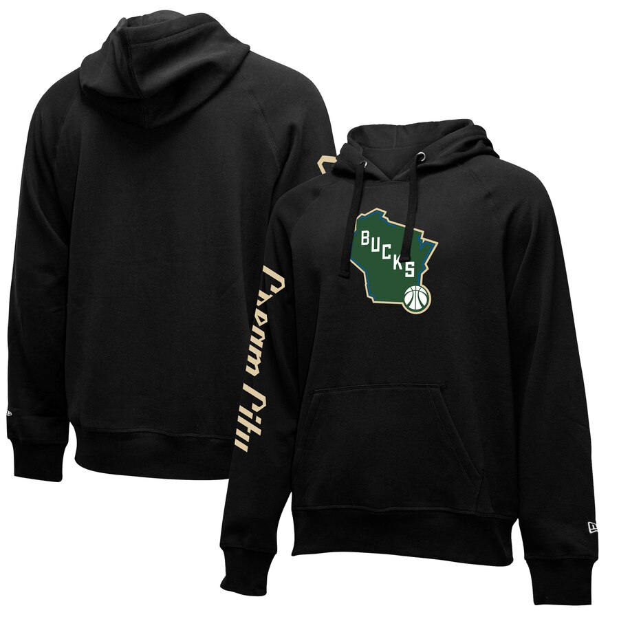 Milwaukee Bucks New Era 2019-20 City Edition Pullover Hoodie Black
