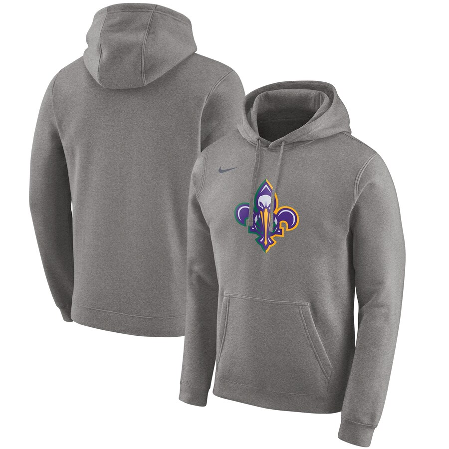 New Orleans Pelicans Nike 2019-20 City Edition Club Pullover Hoodie Heather Gray