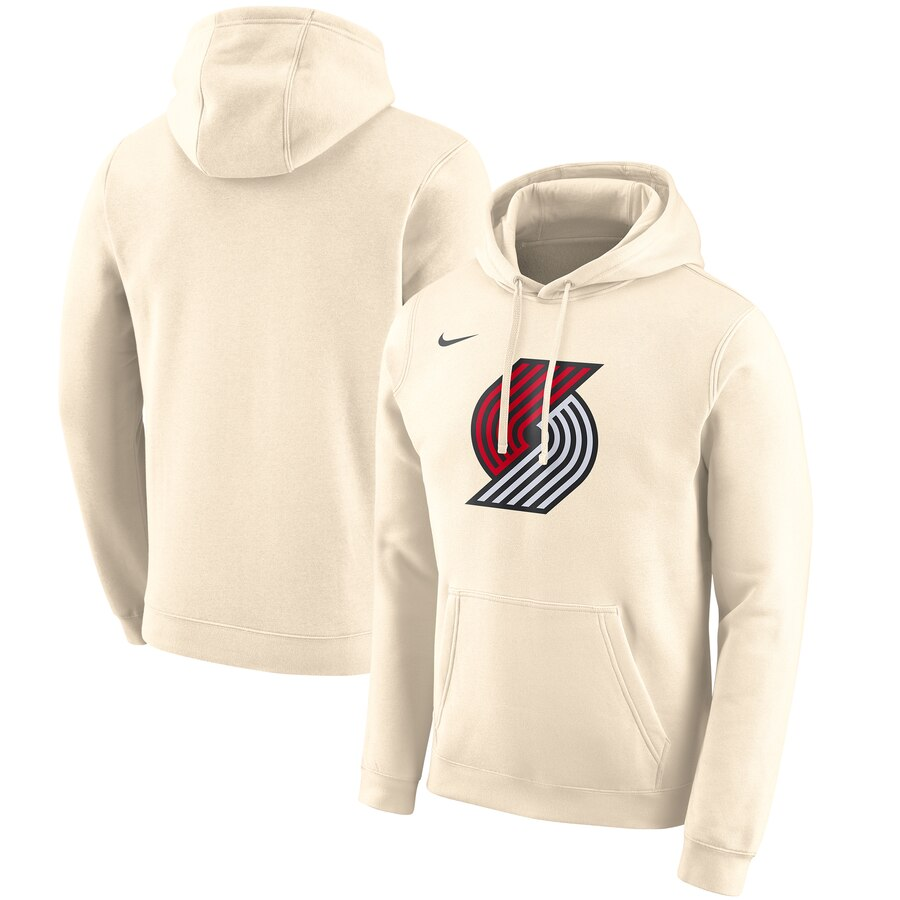 Portland Trail Blazers Nike 2019-20 City Edition Club Pullover Hoodie Cream