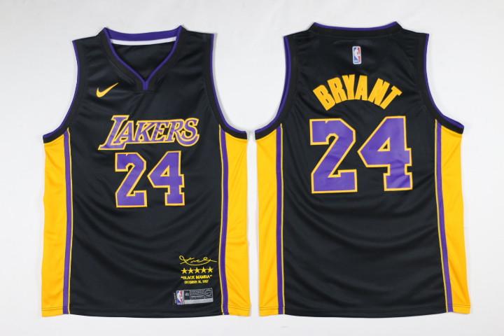 Lakers 24 kobe Bryant Black Mamba Nike Swingman Jersey
