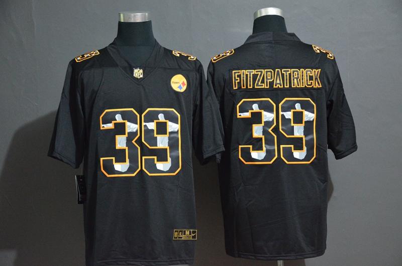 Nike Steelers 39 Minkah Fitzpatrick Black Jesus Faith Edition Limited Jersey