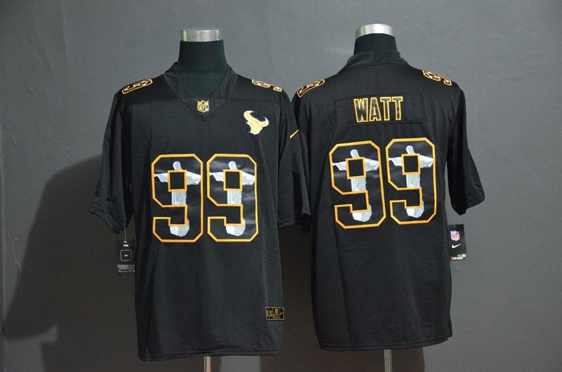 Nike Texans 99 J.J. Watt Black Jesus Faith Edition Limited Jersey