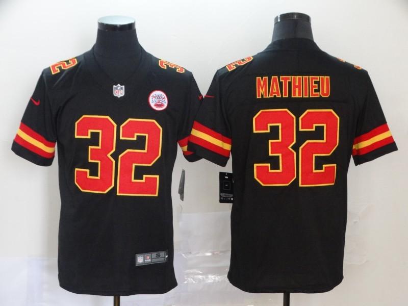 Chiefs 32 Tyrann Mathieu Black Vapor Untouchable Limited Jersey