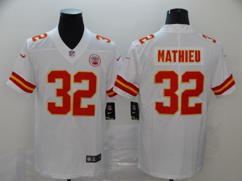 Chiefs 32 Tyrann Mathieu White Vapor Untouchable Limited Jersey