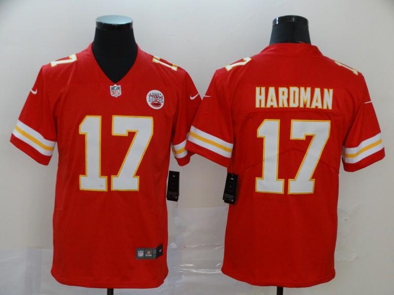Nike Chiefs 17 Mecole Hardman Red Vapor Untouchable Limited Jersey