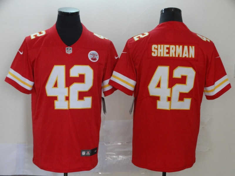 Nike Chiefs 42 Anthony Sherman Red Vapor Untouchable Limited Jersey