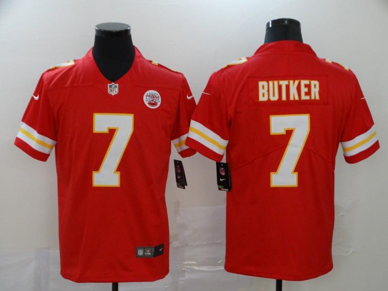Nike Chiefs 7 Harrison Butker Red Vapor Untouchable Limited Jersey