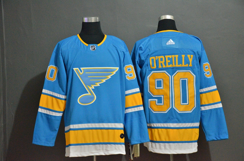 Blues 90 Ryan O'Reilly Light Blue Adidas Jersey