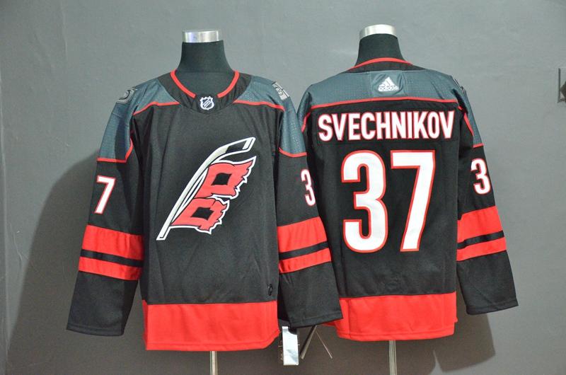 Hurricanes 37 Andrei Svechnikov Black Adidas Jersey