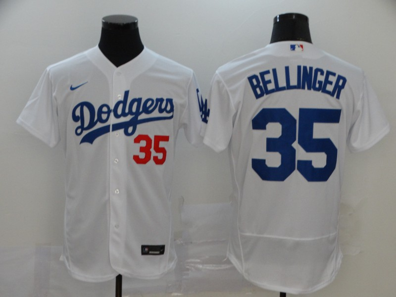 Dodgers 35 Cody Bellinger White 2020 Nike Flexbase Jersey