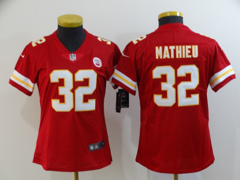 Chiefs 32 Tyrann Mathieu Red Women Vapor Untouchable Limited Jersey