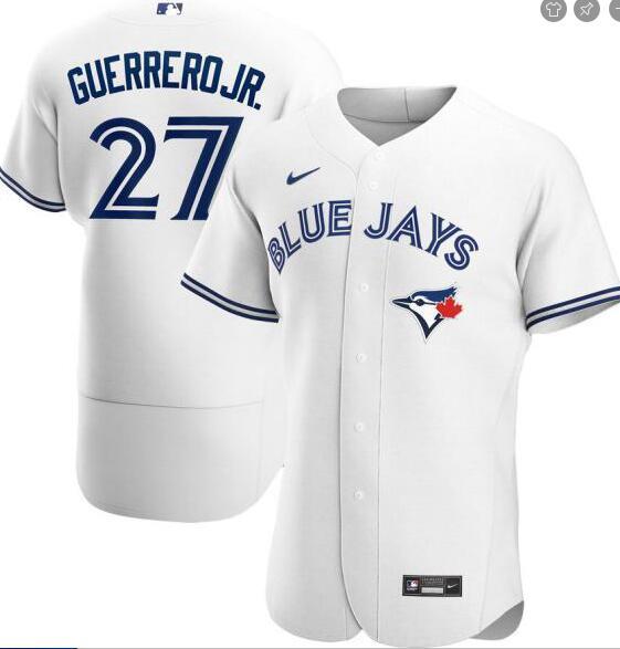 Blue Jays 27 Vladimir Guerrero Jr. White 2020 Nike Flexbase Jersey