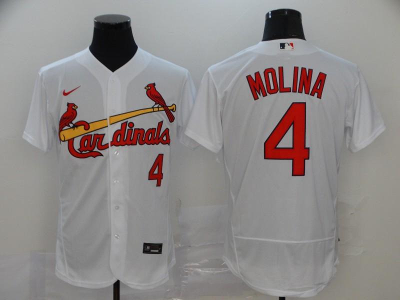 Cardinals 4 Yadier Molina White 2020 Nike Flexbase Jersey