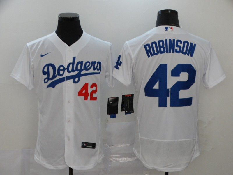 Dodgers 42 Jackie Robinson White 2020 Nike Flexbase Jersey
