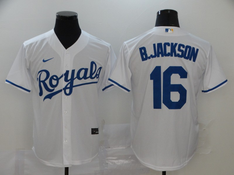Royals 16 Bo Jackson White 2020 Nike Cool Base Jersey