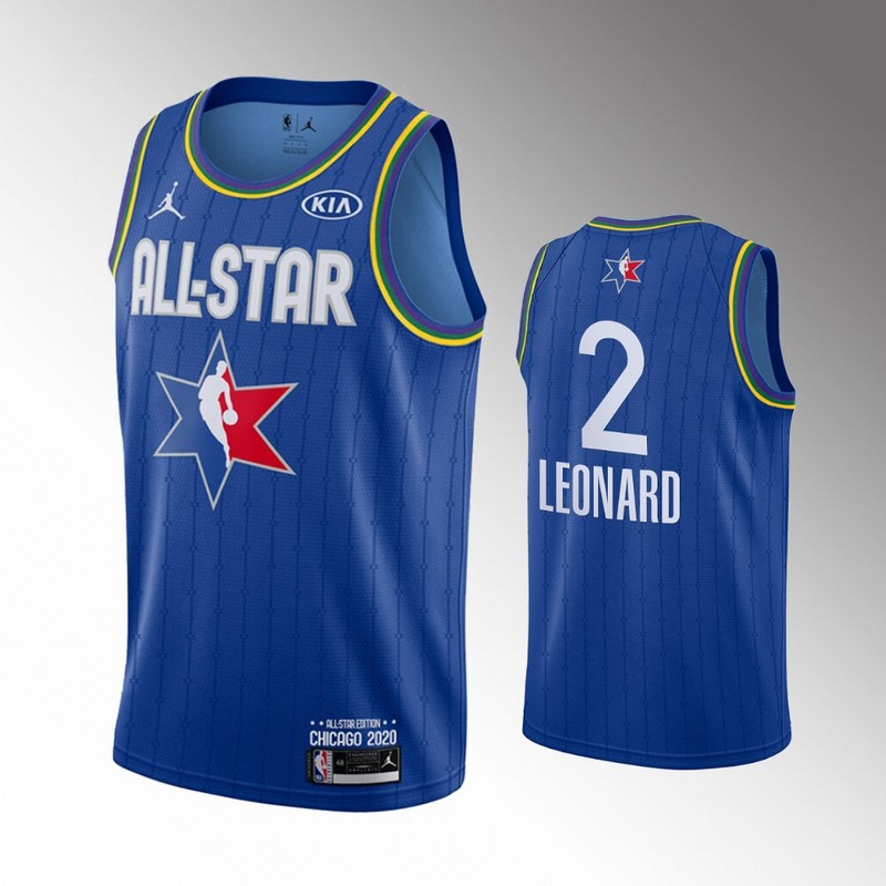 Clippers 2 Kawhi Leonard Blue 2020 NBA All-Star Jordan Brand Swingman Jersey