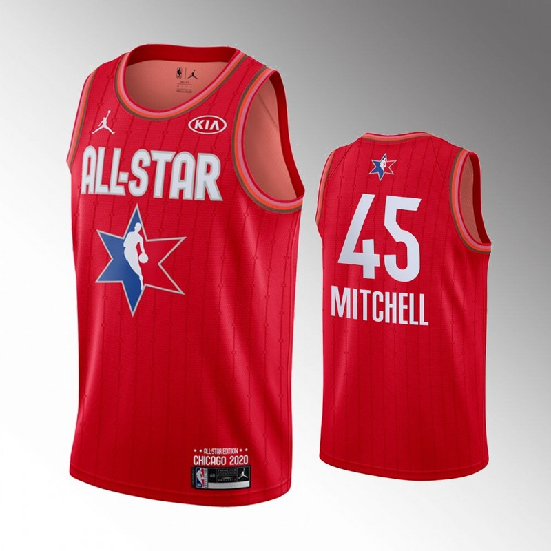 Jazz 45 Donovan Mitchell Red 2020 NBA All-Star Jordan Brand Swingman Jersey