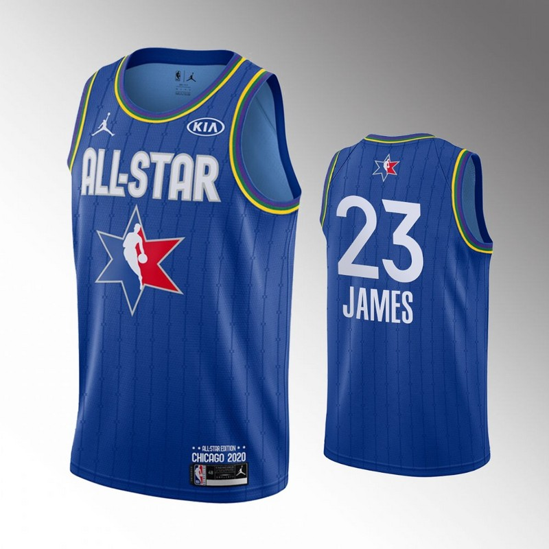 Lakers 23 Lebron James Blue 2020 NBA All-Star Jordan Brand Swingman Jersey