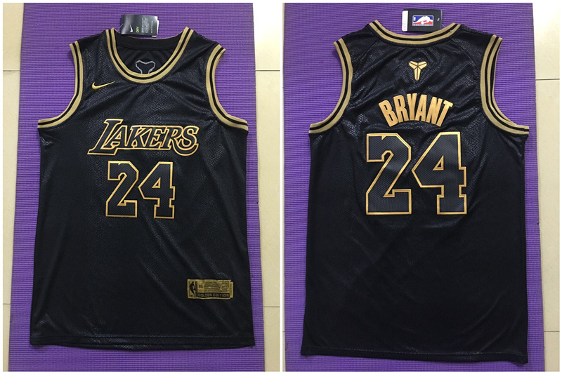 Lakers 24 Kobe Bryant Black Nike Swingman Jersey