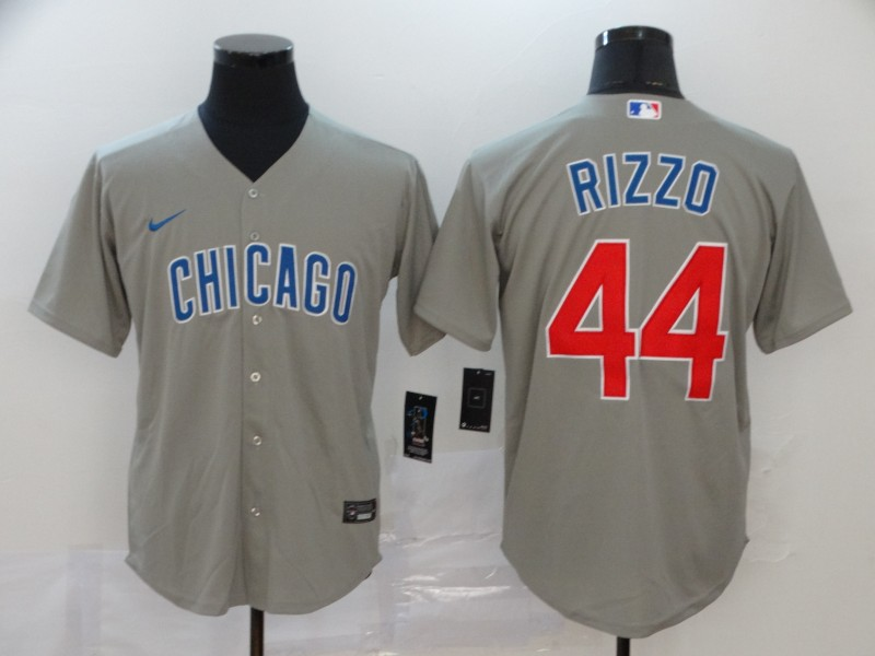 Cubs 44 Anthony Rizzo Gray 2020 Nike Cool Base Jersey