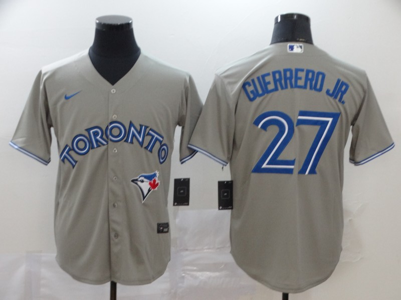 Blue Jays 27 Vladimir Guerrero Jr. Gray 2020 Nike Cool Base Jersey
