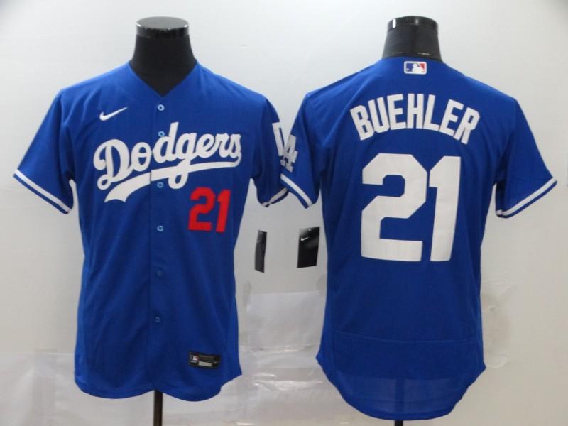 Dodgers 21 Walker Buehler Royal 2020 Nike Flexbase Jersey