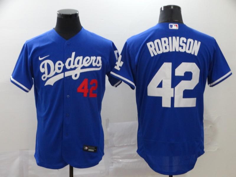 Dodgers 42 Jackie Robinson Royal 2020 Nike Flexbase Jersey