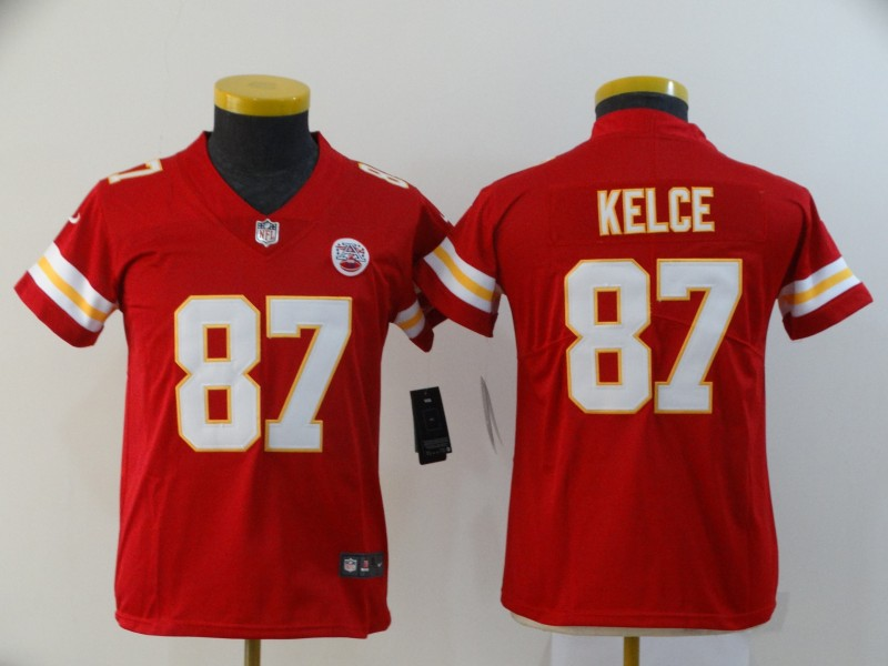 Nike Chiefs 87 Travis Kelce Red Youth Vapor Untouchable Limited Jersey