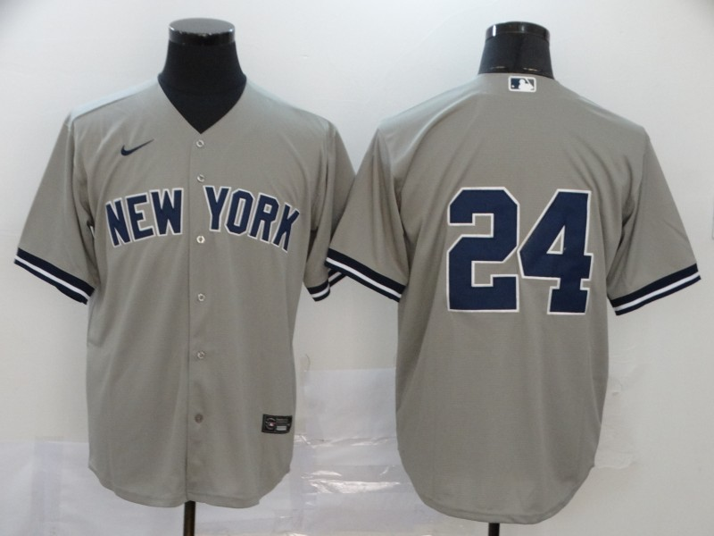 Yankees 24 Gary Sanchez Gray 2020 Nike Cool Base Replica Player Jersey