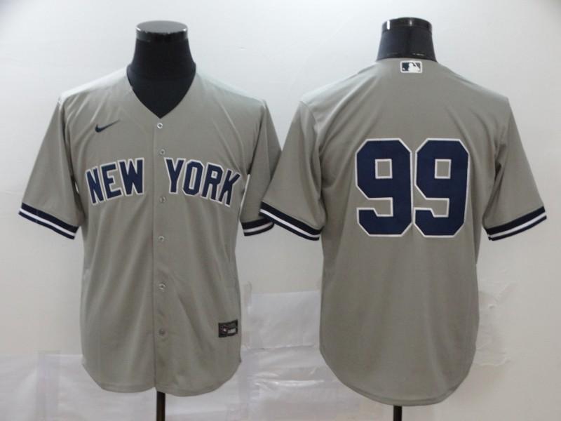 Yankees 99 Aaron Judge Gray 2020 Nike Cool Base Jersey
