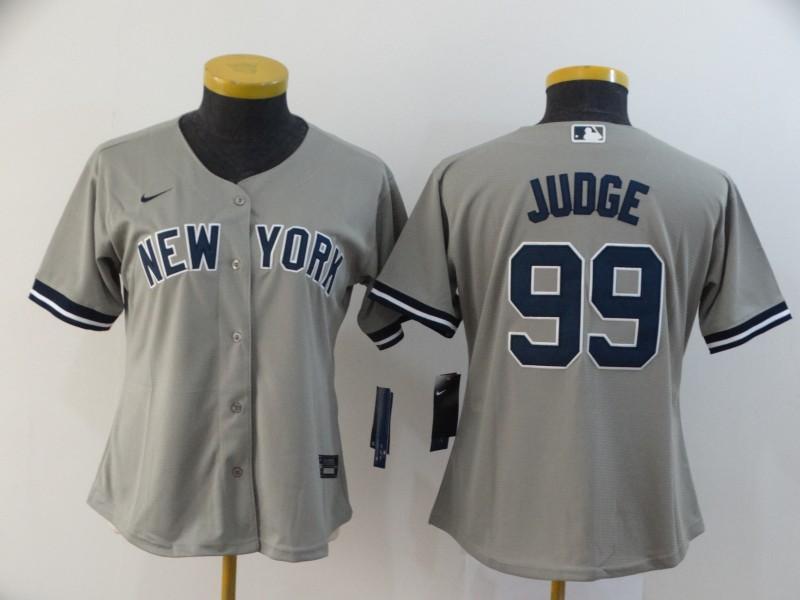 Dodgers 99 Aaron Judge Gray Women 2020 Nike Cool Base Jersey