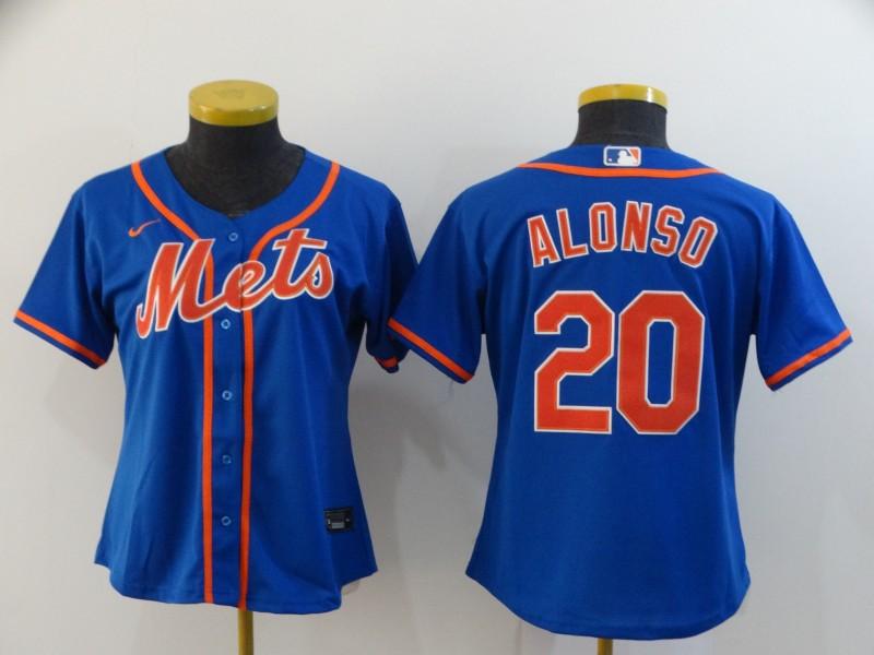 Mets 20 Pete Alonso Royal Women 2020 Nike Flexbase Jersey