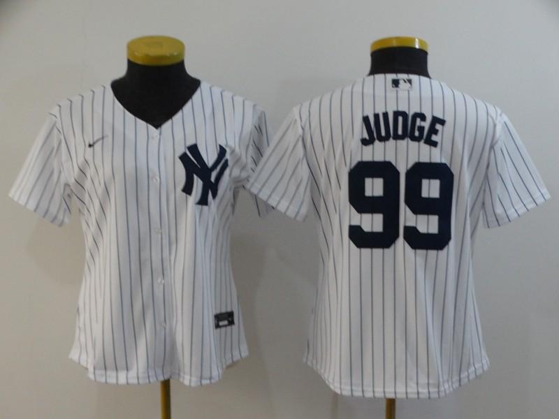 Yankees 99 Aaron Judge White Women 2020 Nike Cool Base Jersey