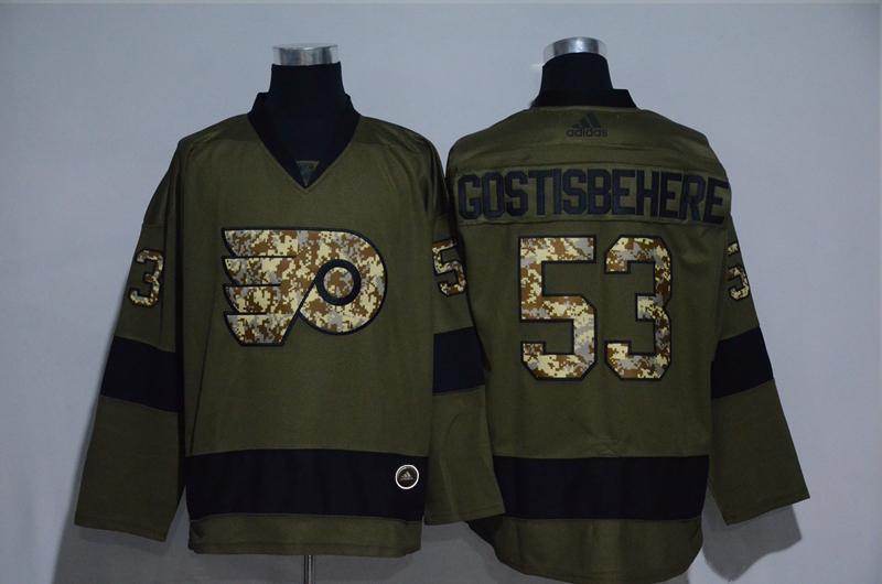 Flyers 53 Shayne Gostisbehere Olive Adidas Jersey