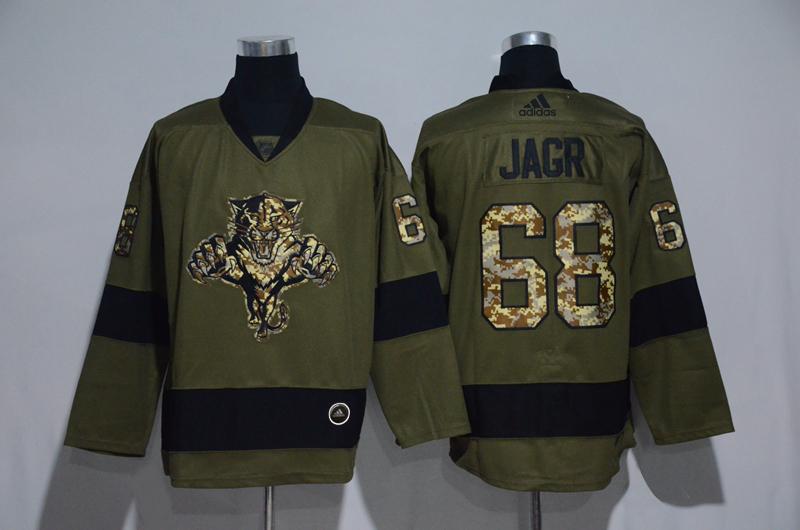 Panthers 68 Jaromir Jagr Olive Adidas Jersey
