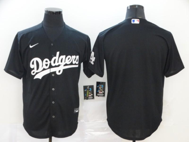 Dodgers Blank Black 2020 Nike Cool Base Jersey