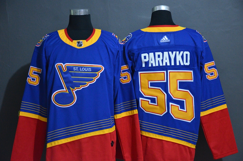 Blues 55 Colton Parayko Blue Adidas Jersey