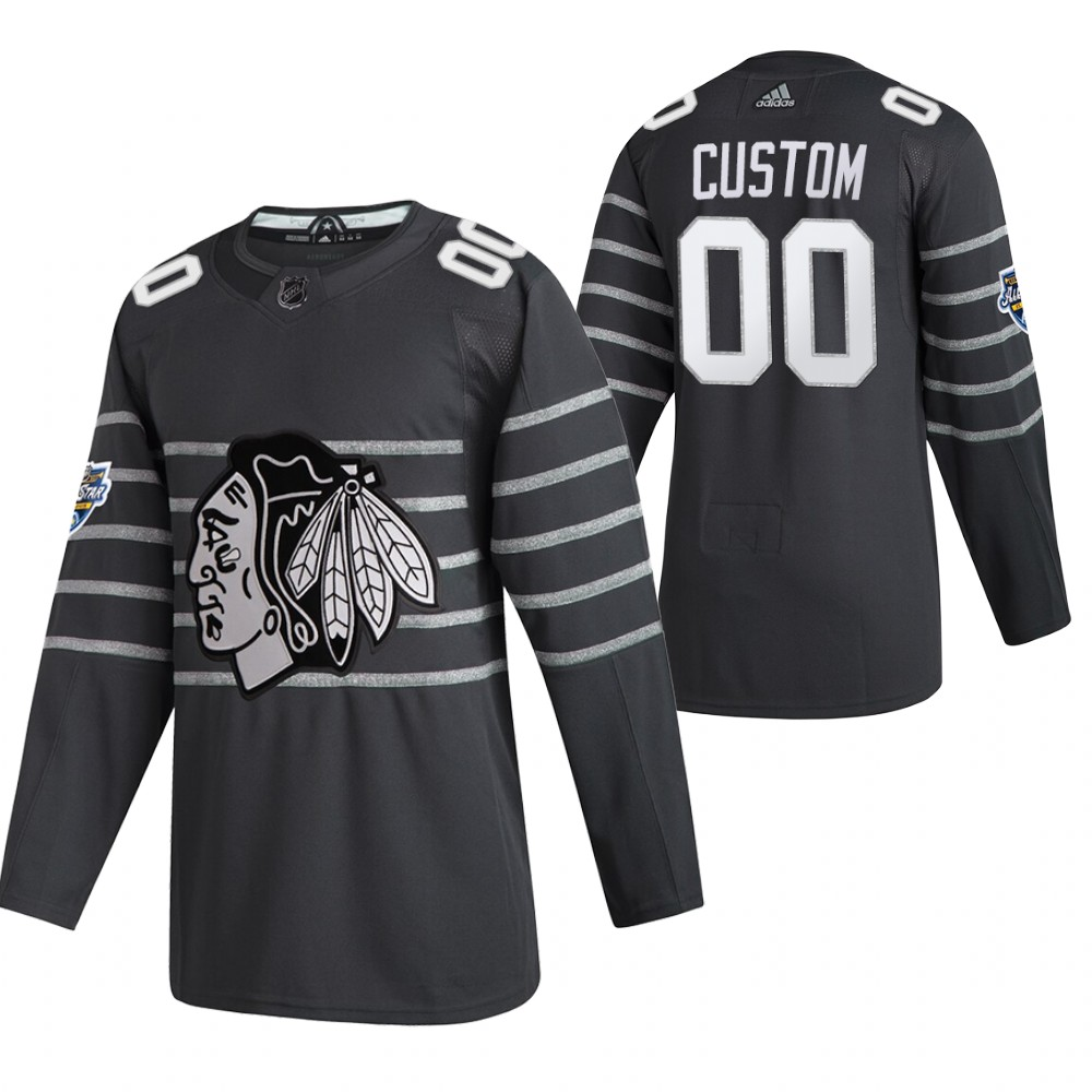 Blackhawks Customized Gray 2020 NHL All-Star Game Adidas Jersey
