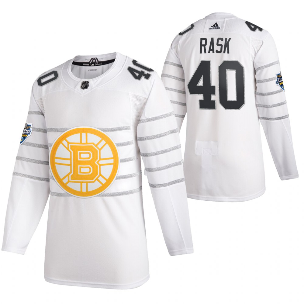 Bruins 40 Tuukka Rask White 2020 NHL All-Star Game Adidas Jersey