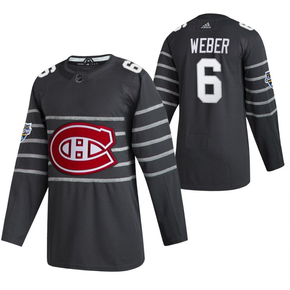 Canadiens 6 Shea Weber Gray 2020 NHL All-Star Game Adidas Jersey