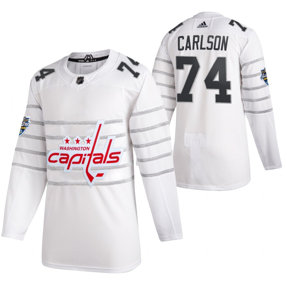 Capitals 74 John Carlson White 2020 NHL All-Star Game Adidas Jersey