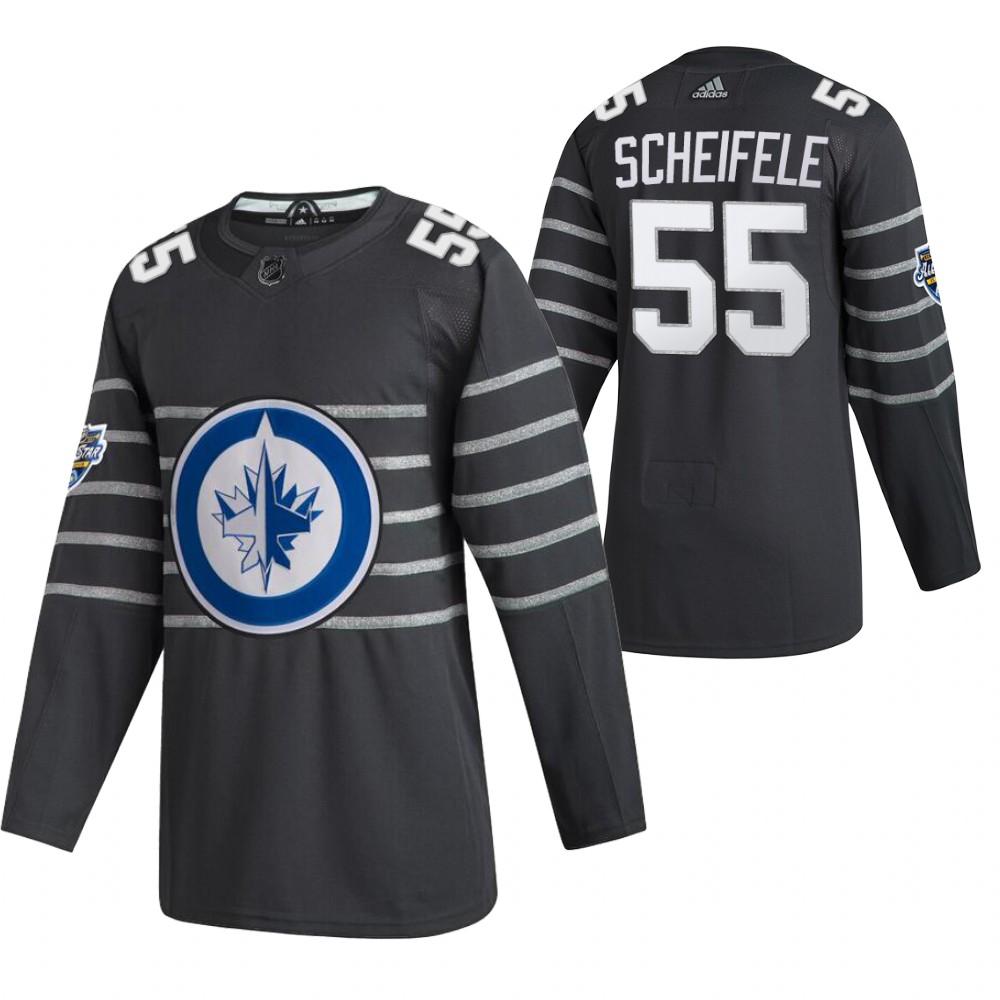 Jets 55 Mark Scheifele Gray 2020 NHL All-Star Game Adidas Jersey