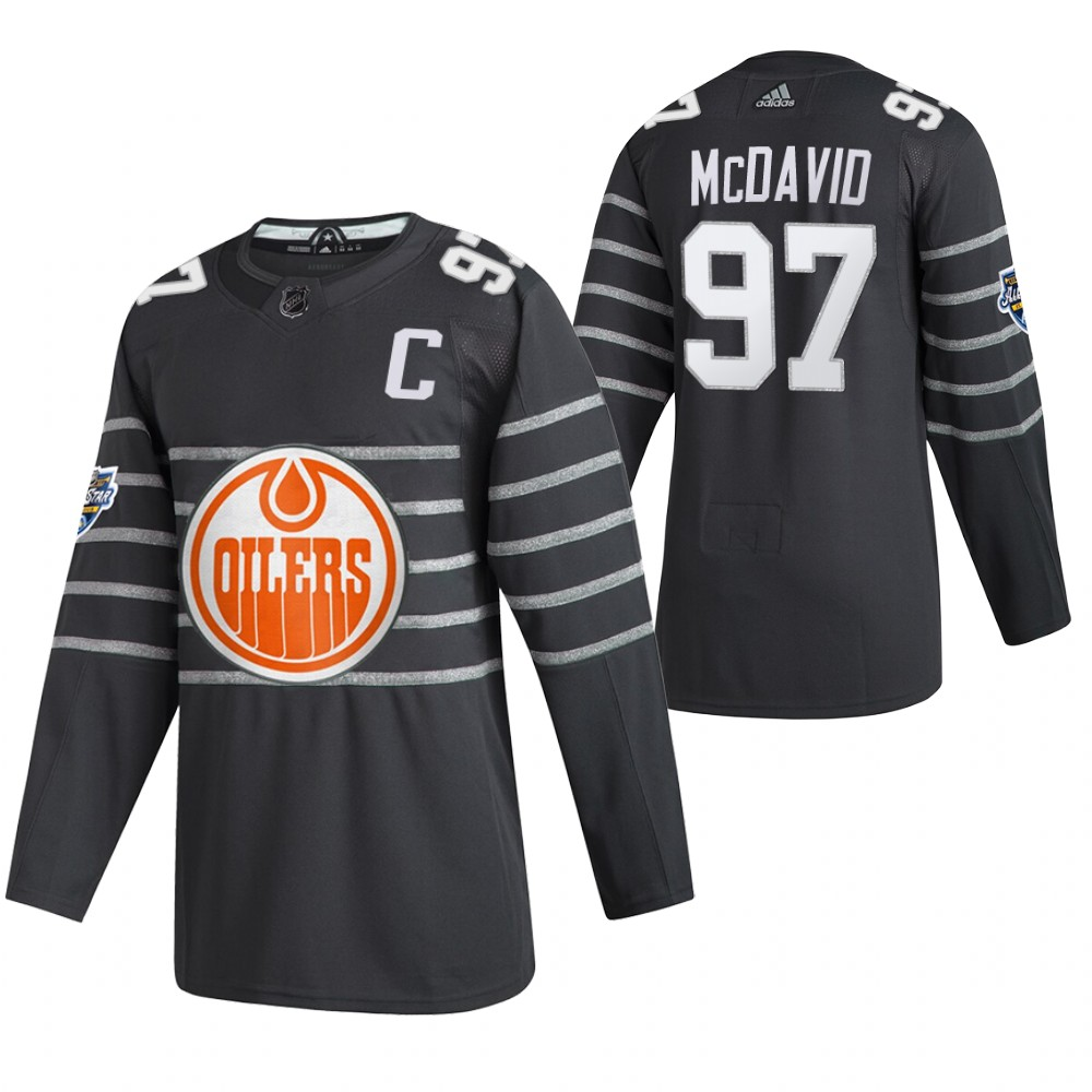 Oilers 97 Connor McDavid Gray 2020 NHL All-Star Game Adidas Jersey