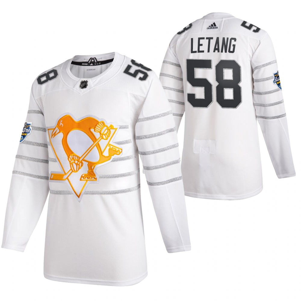 Penguins 58 Kris Letang White 2020 NHL All-Star Game Adidas Jersey