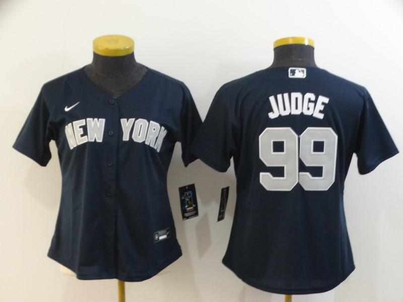 Yankees 99 Aaron Judge Navy Women 2020 Nike Cool Base Jersey