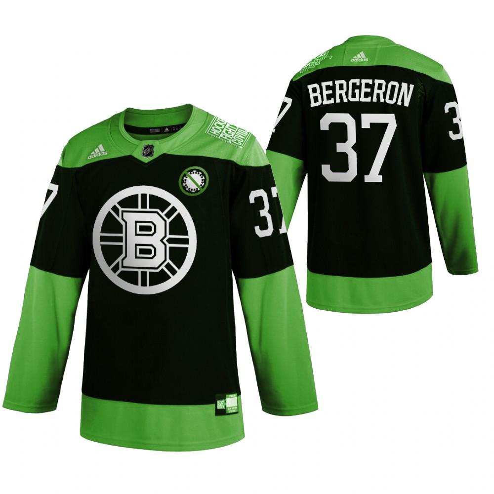 Bruins 37 Patrice Bergeron Green 2020 Adidas Jersey