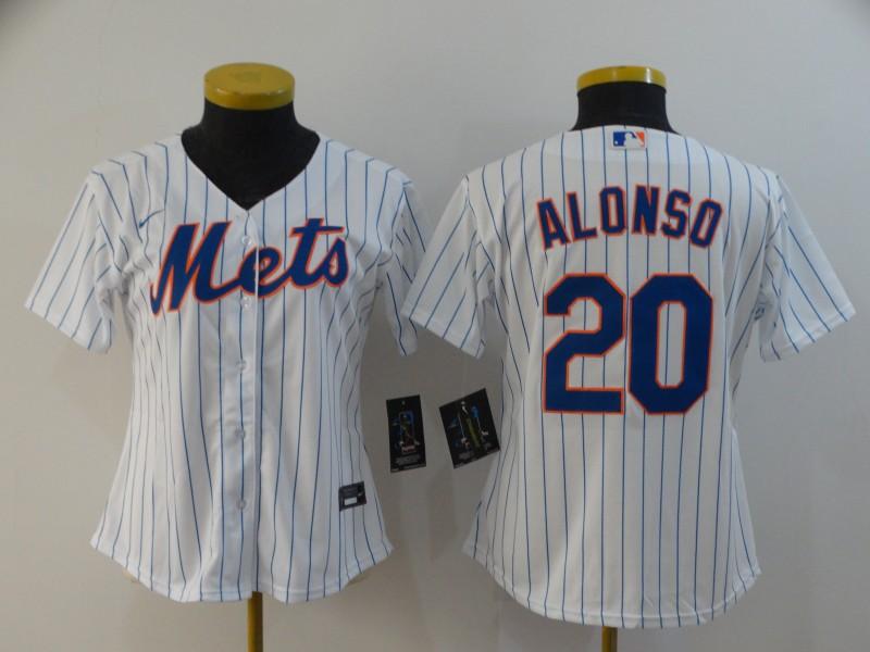 Mets 20 Pete Alonso White Women 2020 Nike Flexbase Jersey